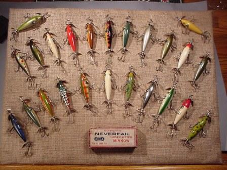 Pflueger Antique lures the Neverfail Minnow