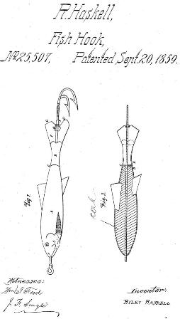 Patent Drawing of a Haskell Minnow